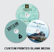 DVD In Custom Printed Blank Media