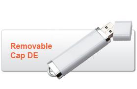 Removable Cap DE USB Flash Drive